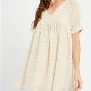 Beige Vici babydoll dress